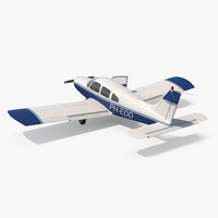 light aircraft piper pa-28-161 3d model