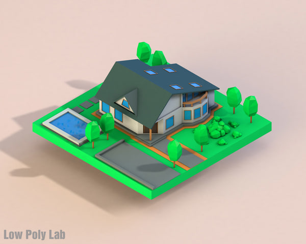 3d cartoon house model