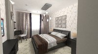 3d hotel room scene model