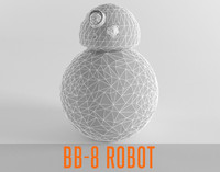 Star Droid BB 8 Robot Low Poly