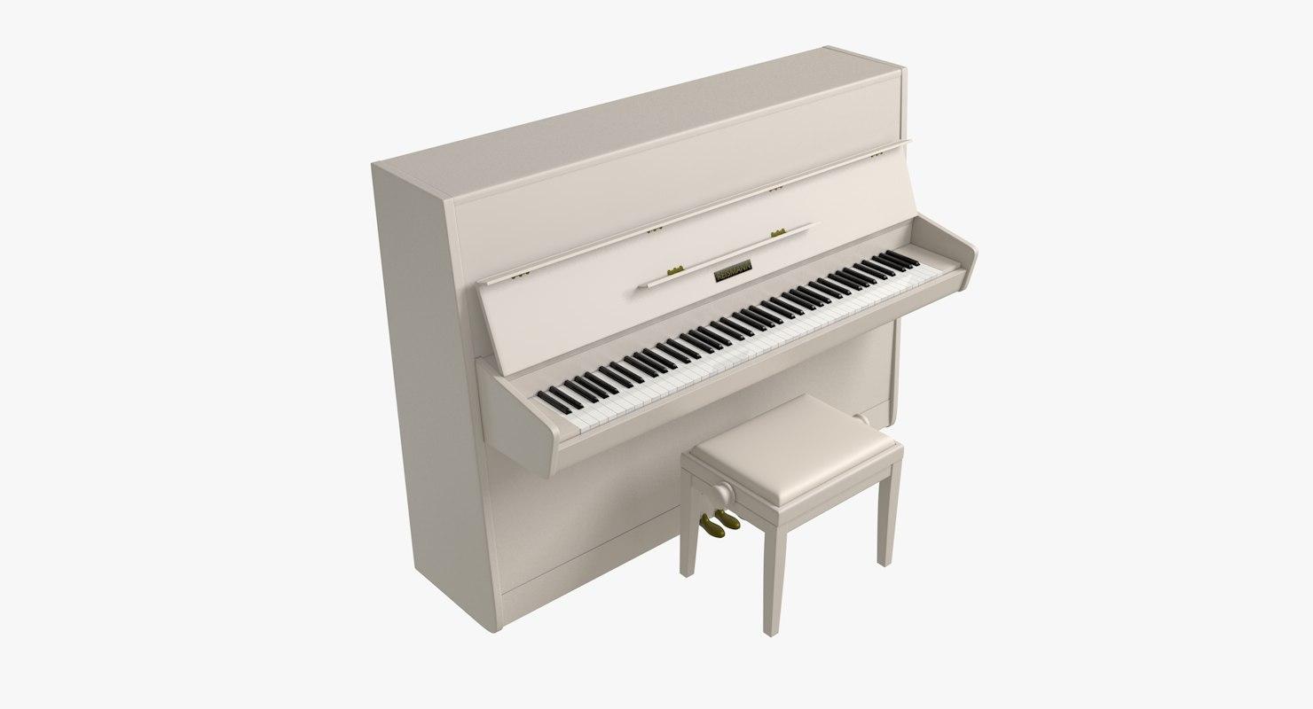 3d model reismann upright piano
