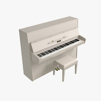 3d model reismann upright piano
