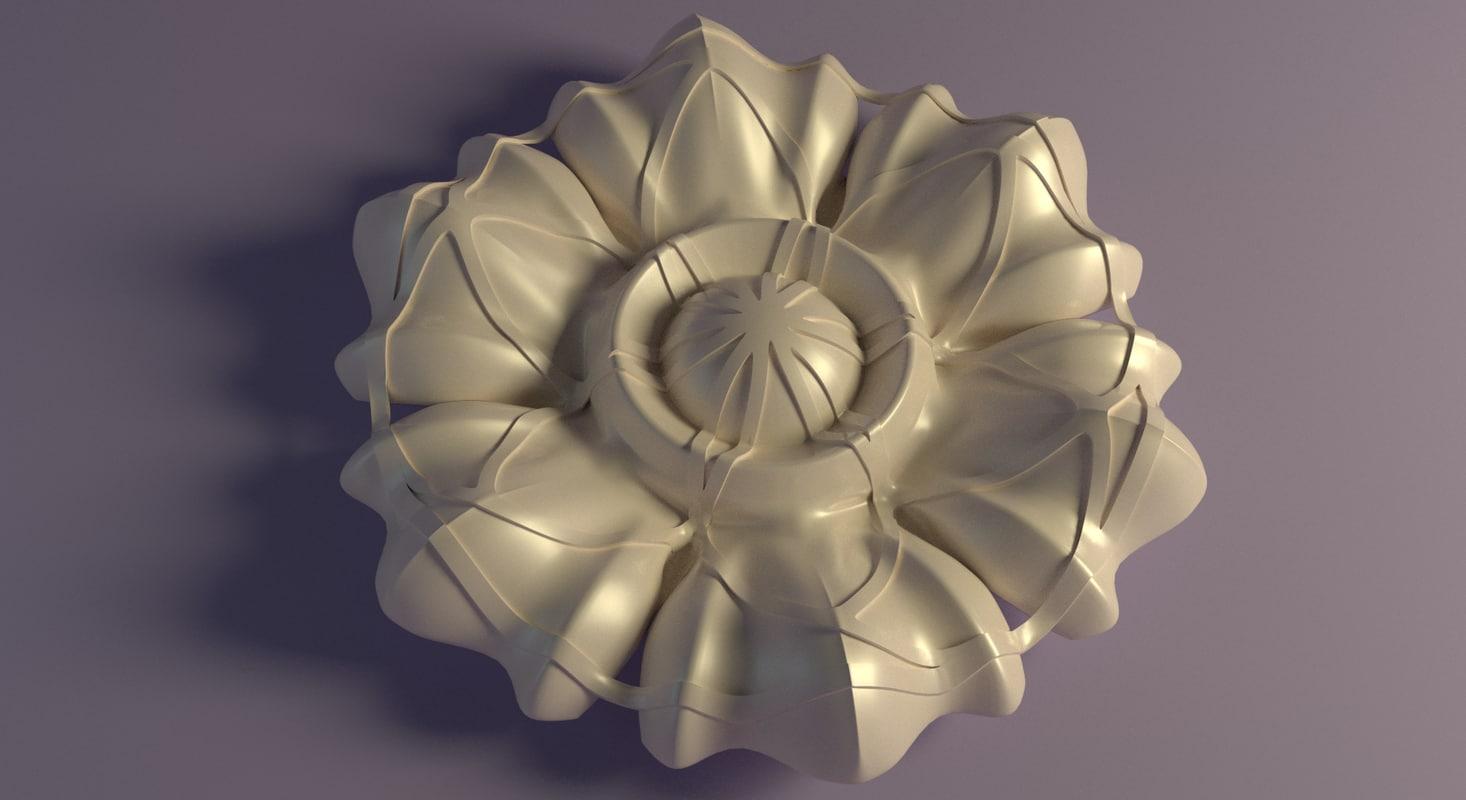 3d architectural rosette