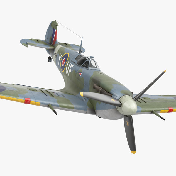 3d british wwii fighter aircraft