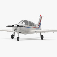 3d civil utility aircraft piper model