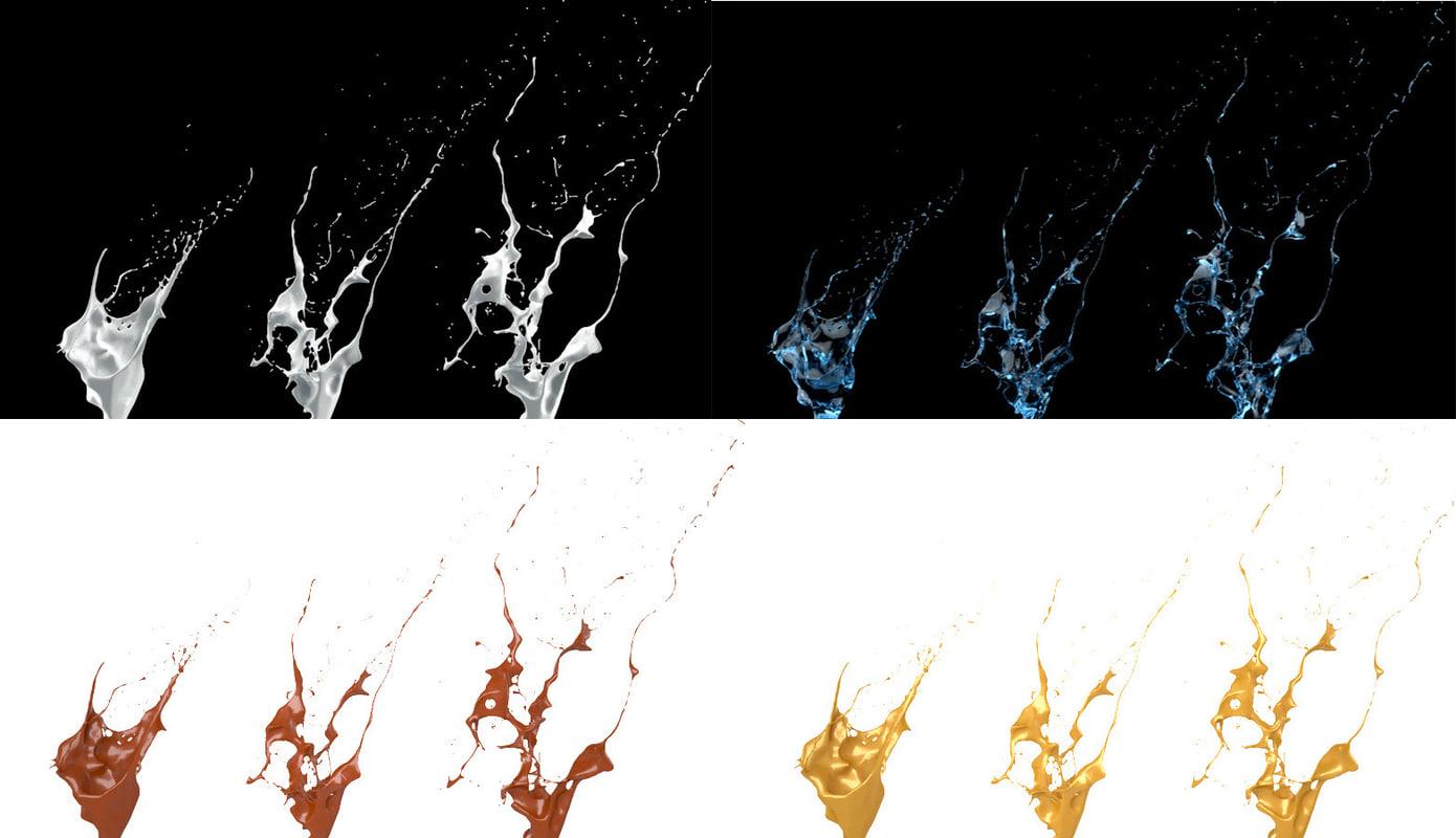 3d model splash liquid