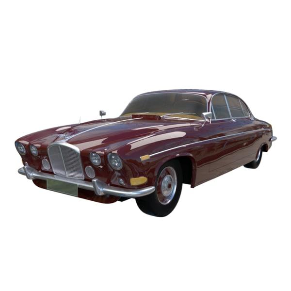 3d antique sedan model