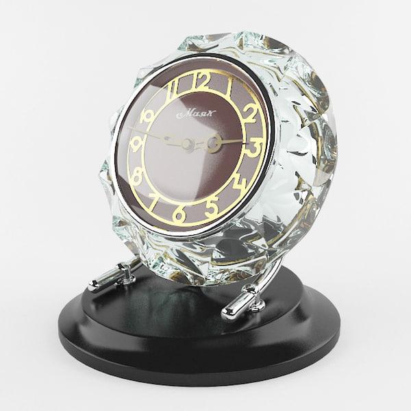 crystal clock 3d max