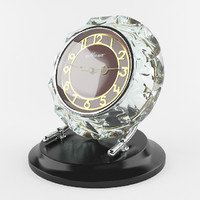 crystal clock 3d max