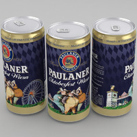 3d model of beer paulaner oktoberfest wiesn