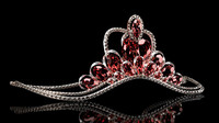 Wedding diadem with diamonds, rubies and sapphires.