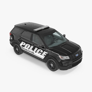 police interceptor unit 2016 3d max
