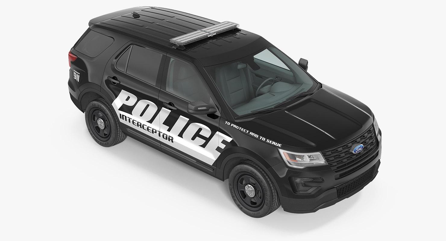 police interceptor unit 2016 3d max