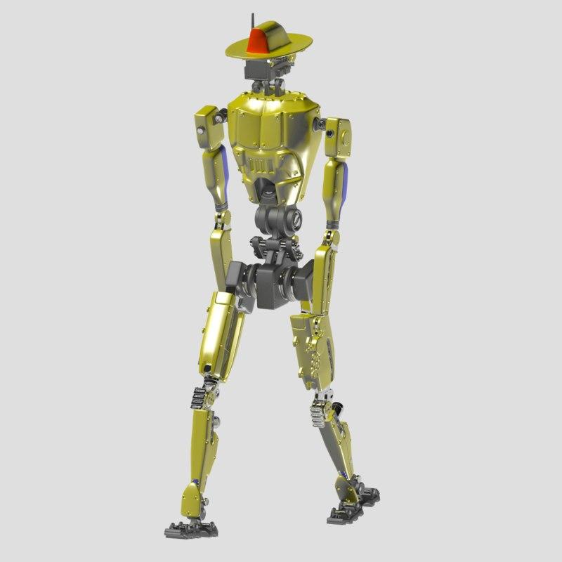 robot firefighter 3d max
