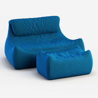 sofa valentine 3d obj