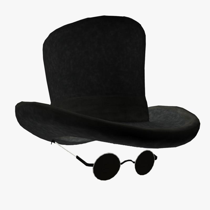 modeled hat eyewear 3d model