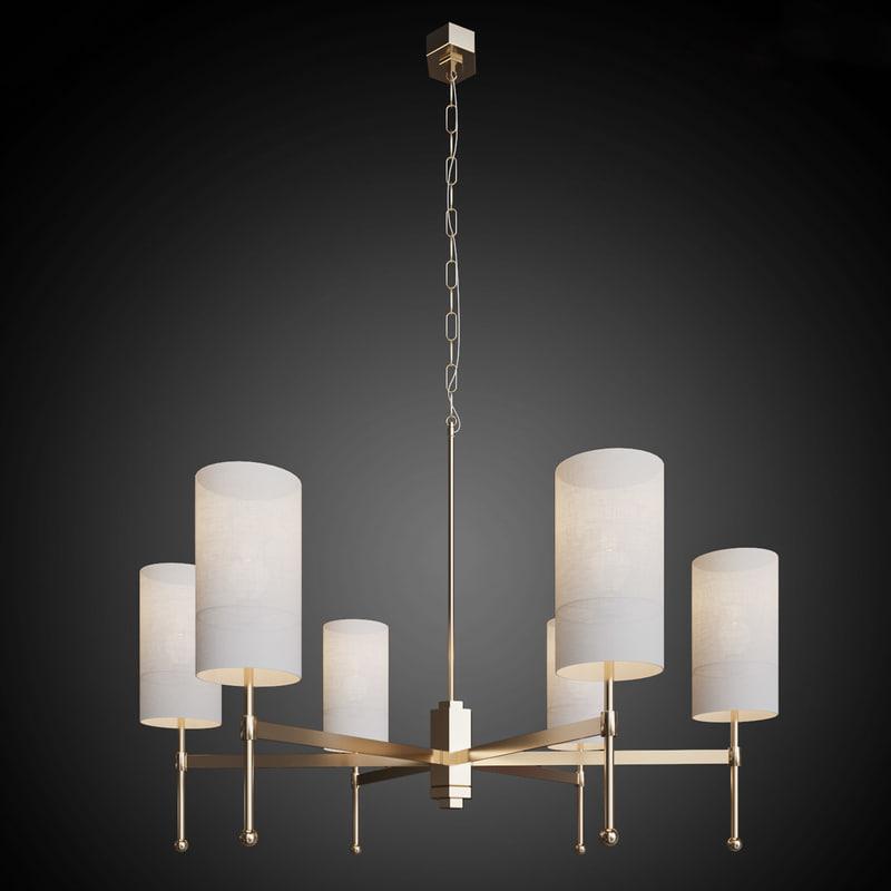 chandelier stem silk lamps 3ds