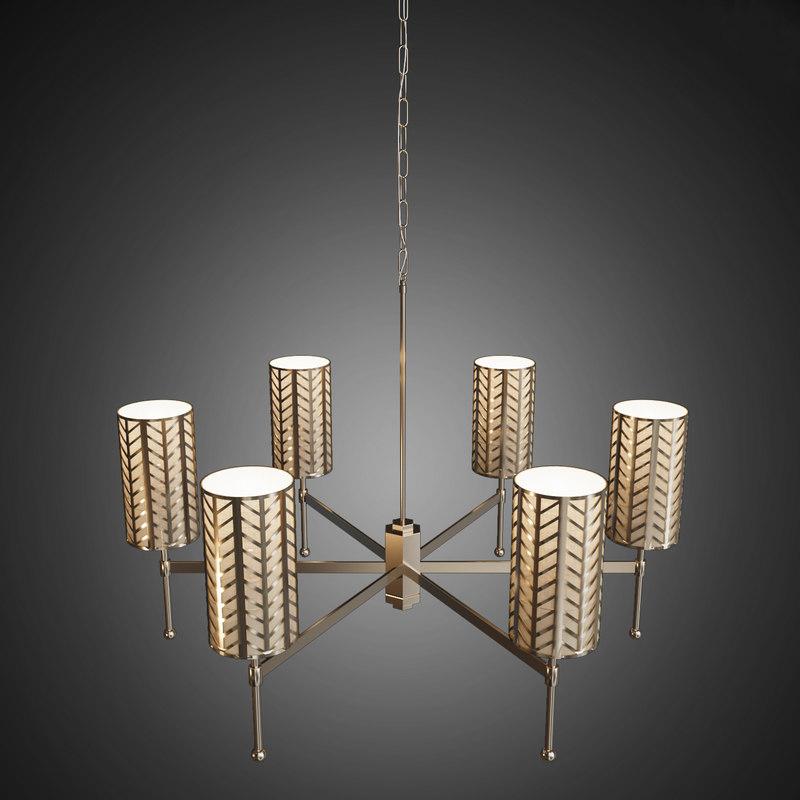 3d model of stem chandelier lattice lamps