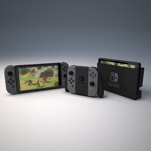 nintendo switches 3d max