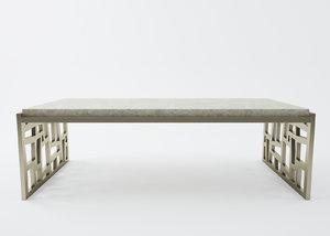3d model gold deform table