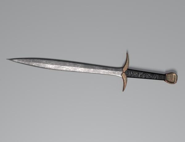 medieval sword obj free