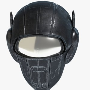 max science fiction helmet