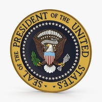3d model presidential-seal
