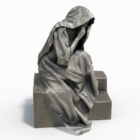 statue female 3d obj