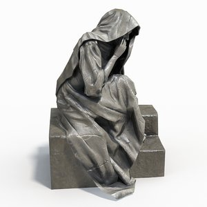 statue female 3d obj