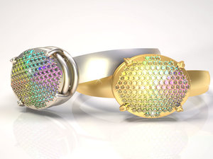 jewellery ring anne siparis 3d 3ds