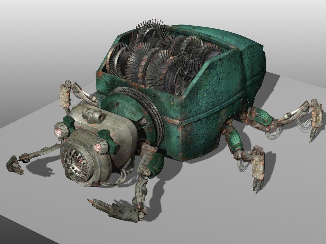 3d model garbage monster