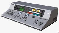 retro control desk 3d model