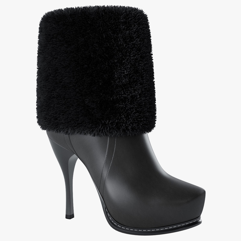 women s boot 3d model