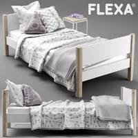 flexa single bed 3d model