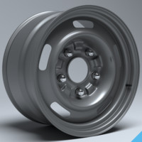 3d model 60s gm rally wheel