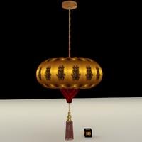 3d chinese lantern model