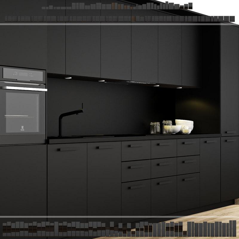 kitchen extraction underwerk 3d max