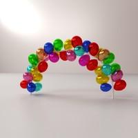 balloon arch 3d model
