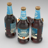 3d model beer bottle mcevans ipa