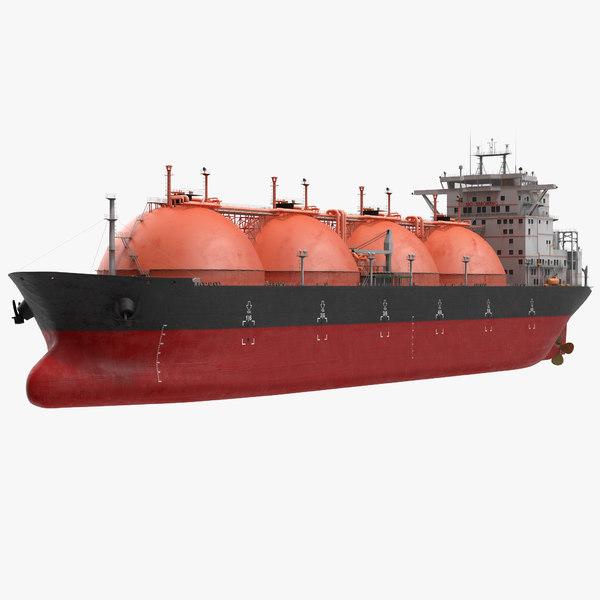 3d gas carrier ship generic model