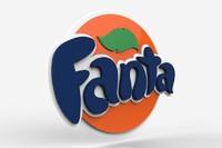 3d model fanta logo