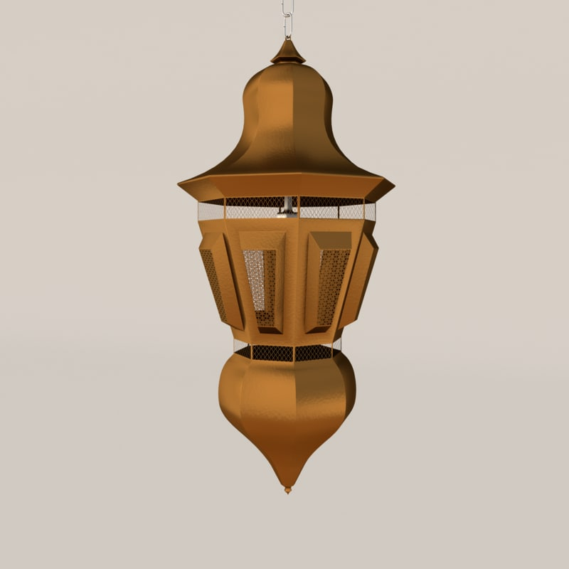 obj lamp bronze