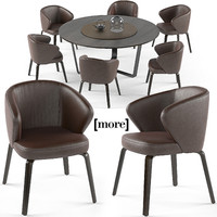 3d model of mudi armchair pero table set
