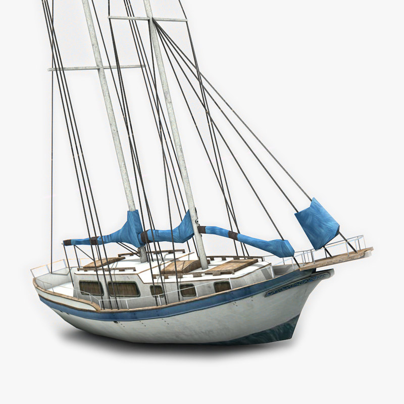sailboat 2 sail boat 3d 3ds