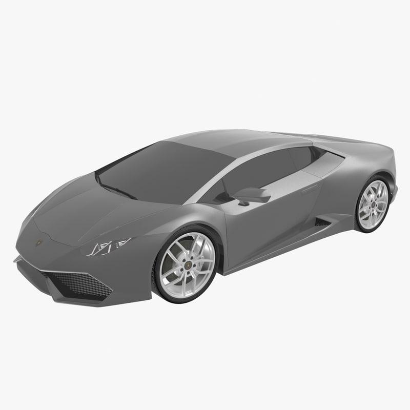 2017 Lamborghini Huracan Interior: Lamborghini Huracan 3d 3ds