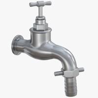 garden water faucet 3d obj