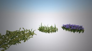 vegetation flower 3d max
