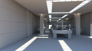 3d model of science laboratory