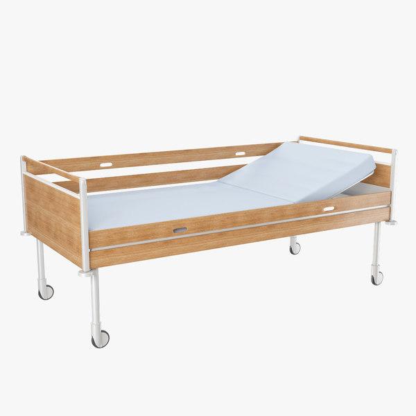 hospital bed 3d obj