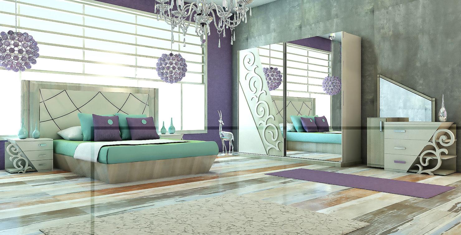 bedroom bed 3ds